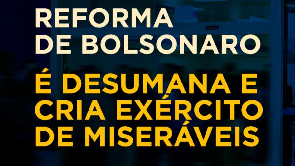 Reforma é desumana e cria exército de miseráveis