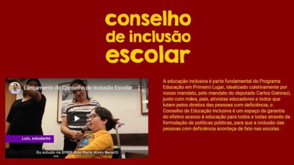 Você conhece o Conselho de Inclusão Escolar?