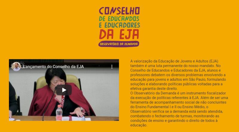 No Conselho de Educandos e Educadores da EJA, alunos e professores debatem os diversos problemas envolvendo a educação para jovens e adultos em São Paulo.