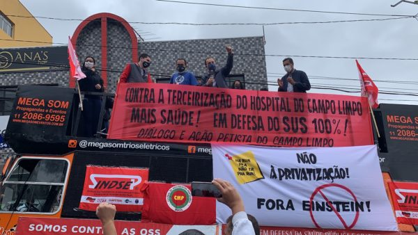 Celso Giannazi participa de ato contra privatização do Hospital Campo Limpo