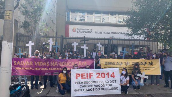 Em ato na SME, Giannazi exige fim de política genocida de Bruno Covas