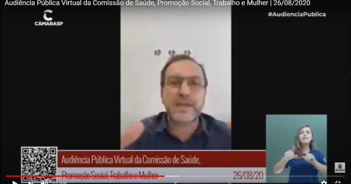Celso Giannazi é contra o desmonte da COVISA e criou o PDL 42/2020 para barrar isso
