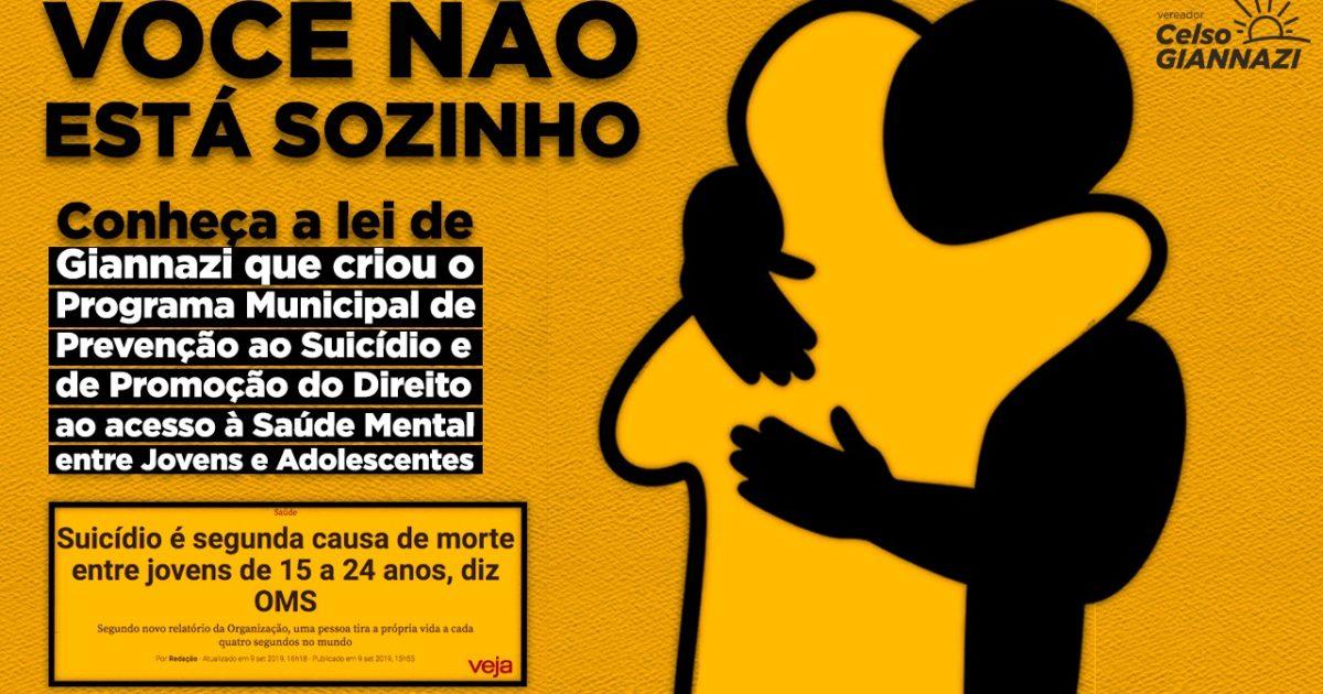 O programa orienta tratamento psicológico a quem não tem acesso e promove a divulgação do Centro de Valorização da Vida (CVV).