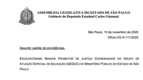 Acionou o GEDUC-MP contra a abertura dos CEUs durante a pandemia