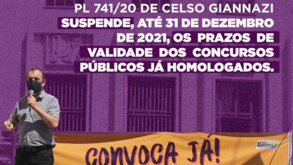PL 741/2020 | Suspende, até 31/12/2021, os prazos de validade dos concursos públicos já homologados