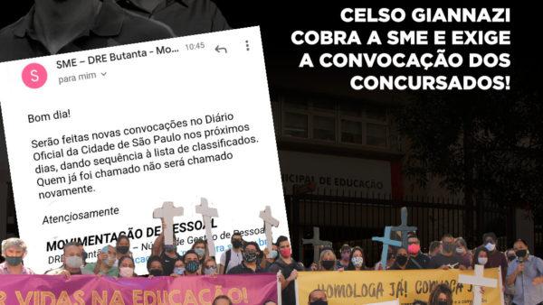 Celso Giannazi oficia SME contra a precarização na área da Educação