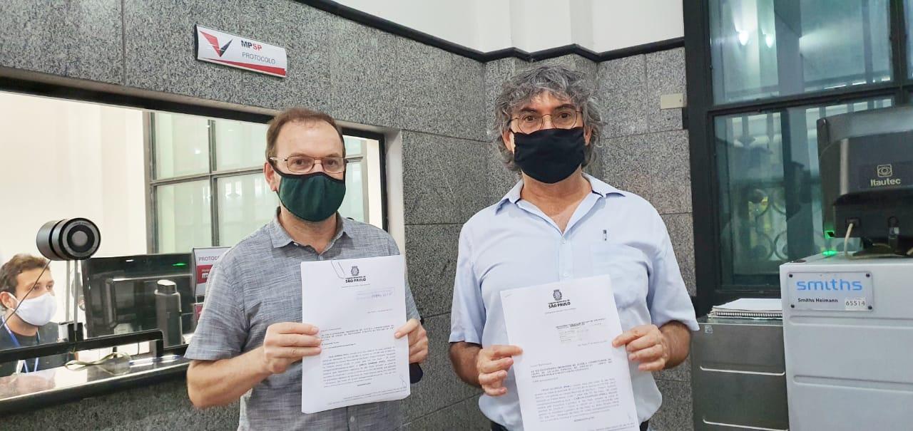 Celso Giannazi e Carlos Giannazi no Ministério Público de São Paulo.