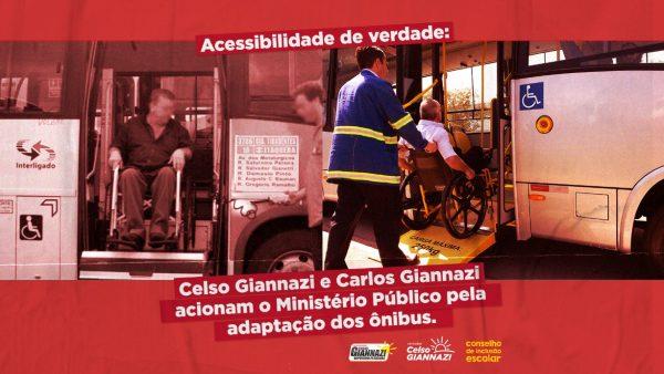 Giannazi aciona Ministério Público pela adaptação dos ônibus
