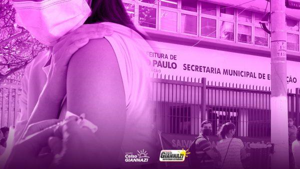 Vereador Celso Giannazi questiona a SME sobre os critérios de imunização dos profissionais da Educação.