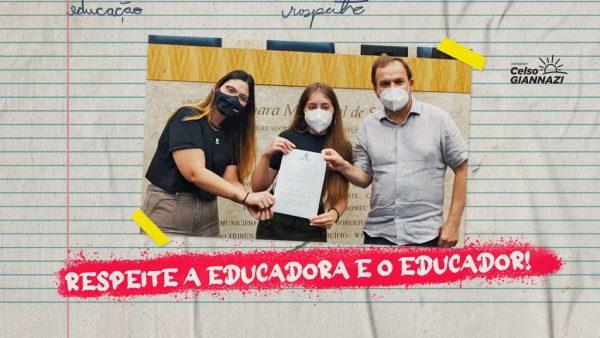 PL 606/21   Inclui no Calendário da cidade a Semana Respeite a Educadora e o Educador