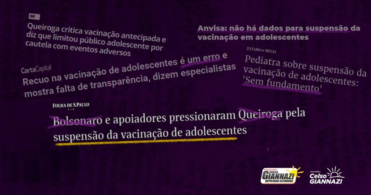 Descaso: o governo Bolsonaro MENTE para esconder a falta de doses!